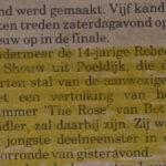 Rebecca Schouw krant